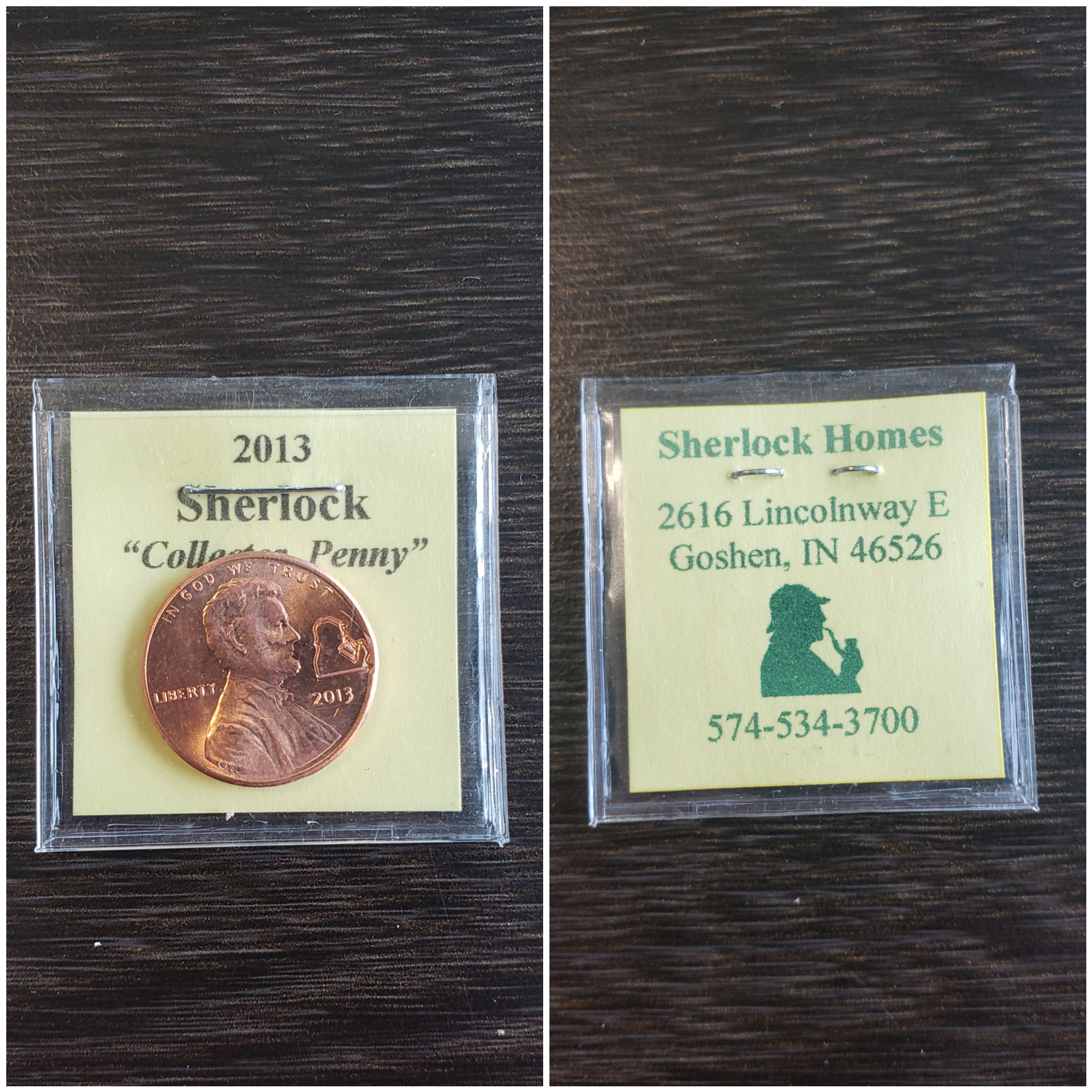 A Lucky Penny From Sherlock Homes of Indiana