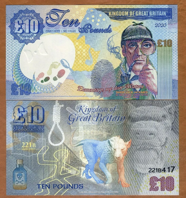 2020 Version of Kingdom of Great Britain Fantasy Banknotes Now Available