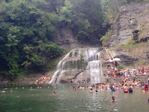 Swimming Hole and Lower Falls