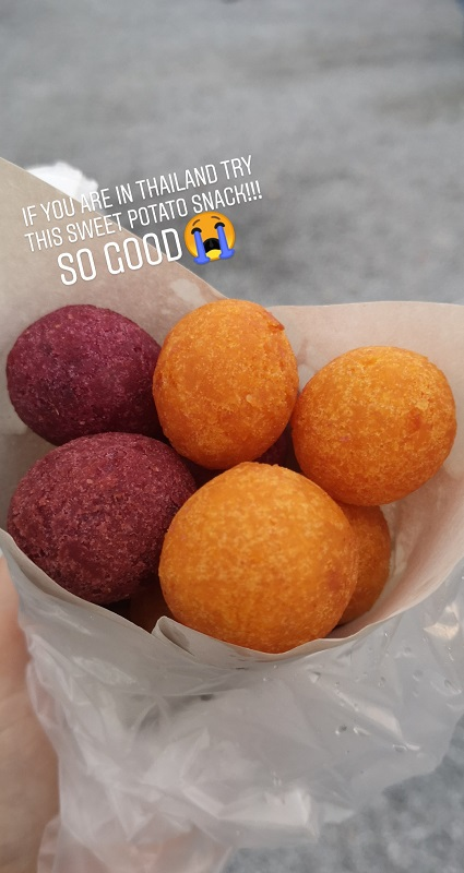 Sweet potato snacks after work in Thailand...tasty!