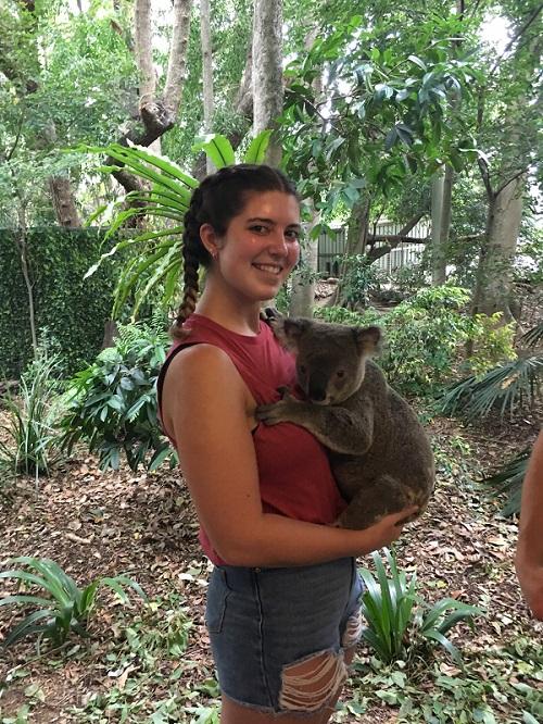 Sarah's Tourism Management placement in Australia