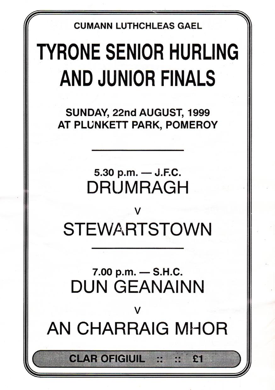 1999 Championship Programme