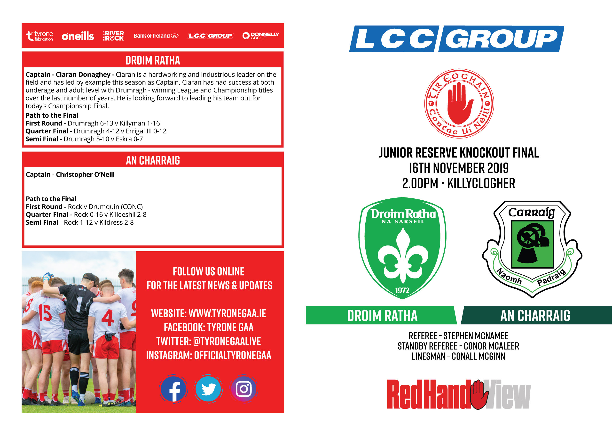 Reserve Championship Final Programme
