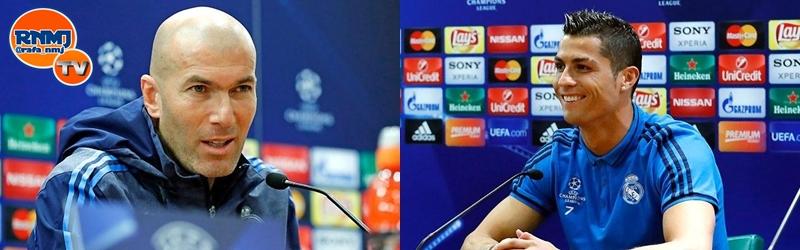 Rueda de prensa de Zinedine Zidane y Cristiano Ronaldo previa al partido ante el AS Roma