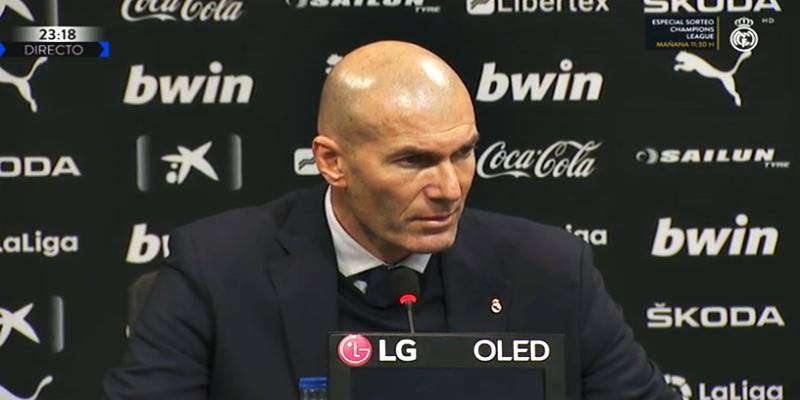 VÍDEO   Rueda de prensa de Zinedine Zidane tras el partido ante el Valencia