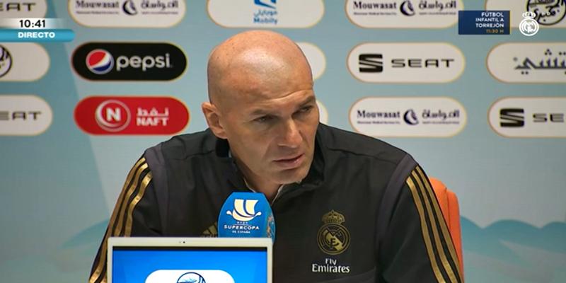 VÍDEO | Rueda de prensa de Zinedine Zidane previa a la final de la Supercopa