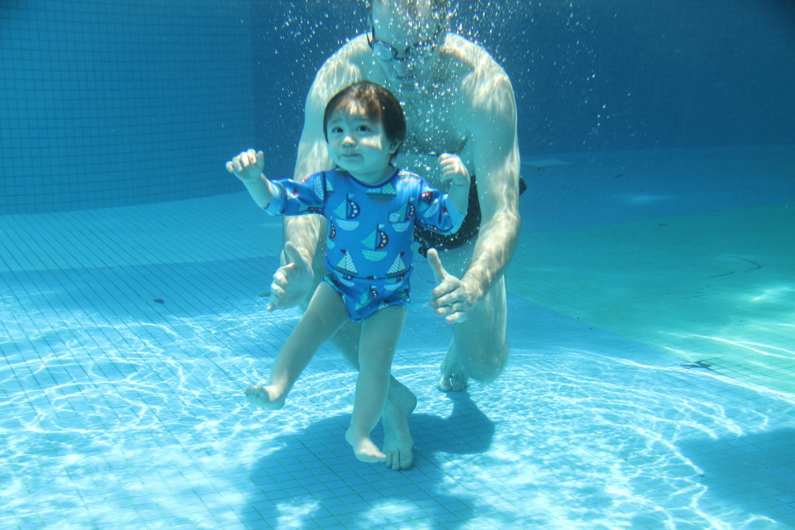 Baby Swimming Lesson   Infant Aquatics   Able Aquatic School