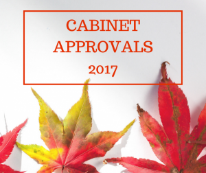 Cabinet Approvals 2017