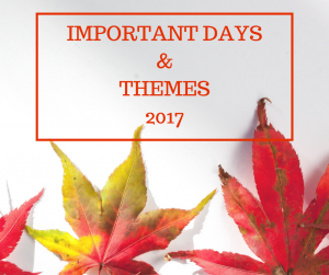 Important Days with Themes 2017