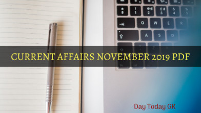 Current Affairs November 2019 PDF
