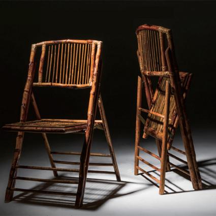 Bamboo Folding Chair (Spotlight) - AC Party Rentals