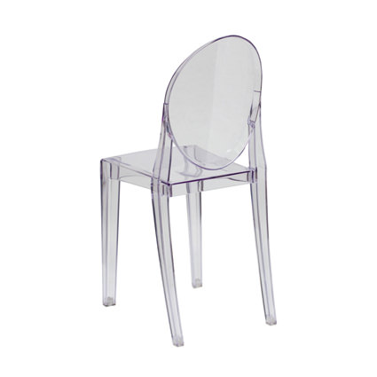 Ghost Chair Armless (Back View) - AC Party Rentals