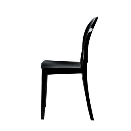 Ghost Chair Black (Side View) - AC Party Rentals