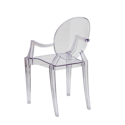 Ghost Chair with Arms (Back View)- AC Party Rentals