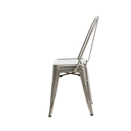 Monroe Gunmetal Chair (Side View) - AC Party Rentals