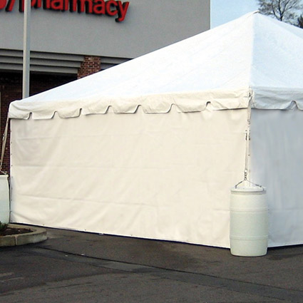 Solid Sidewall Installed - AC Party Rentals