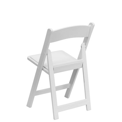 White Padded Chair (Back View) - AC Party Rentals