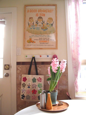 the Good Breakfast poster at the back door of the last kitchen
