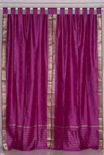 violet sari curtain