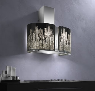 Murano collection the kitchen range hoods by Futuro Futuro Round New York