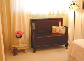 Mango wood bench from Fabindia