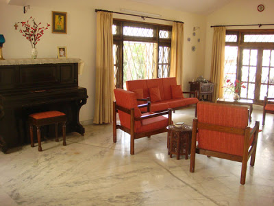 the Indian style living area