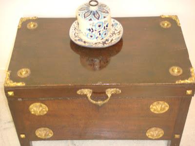 A recreated treasure chest
