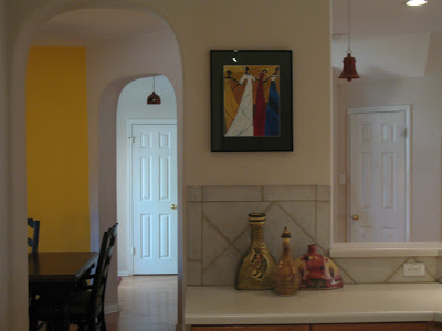 A corner of Sri's kitchen