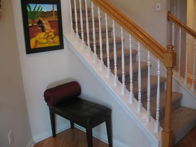 A niche near the stairway