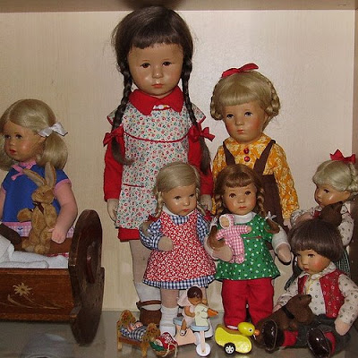 Nicola's collection of vintage dolls