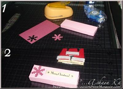 a handmade Xmas card and gift box tutorial by Asha