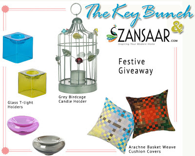 Zansaar Diwali 2012 giveaway on TheKeybunch decor blog