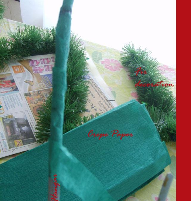 DIY Christmas Tree on the wall