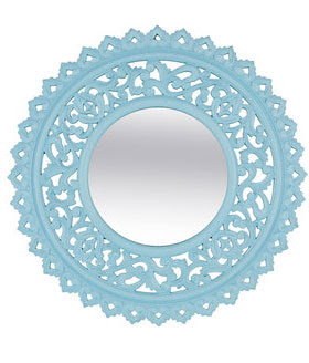 Retro Blue Mirror from Jabong.com online shopping