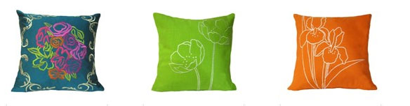 Pretty Garden Cushion Covers from TheBombayStore.com online shopping