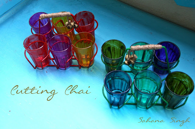 Cutting Chai Glasses and Caddy by Sahana Singh