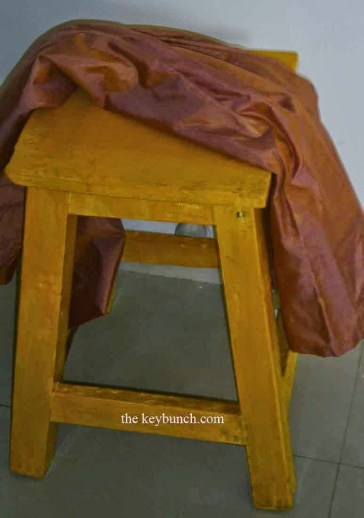 yellow stool diy styling