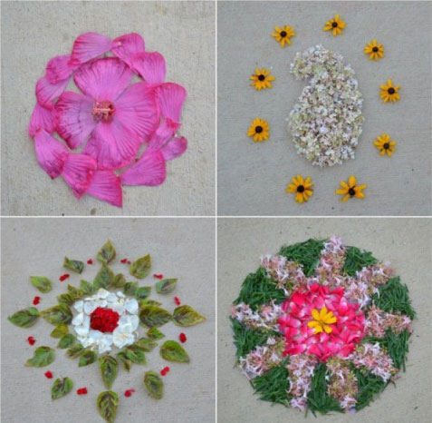 collage pookalam
