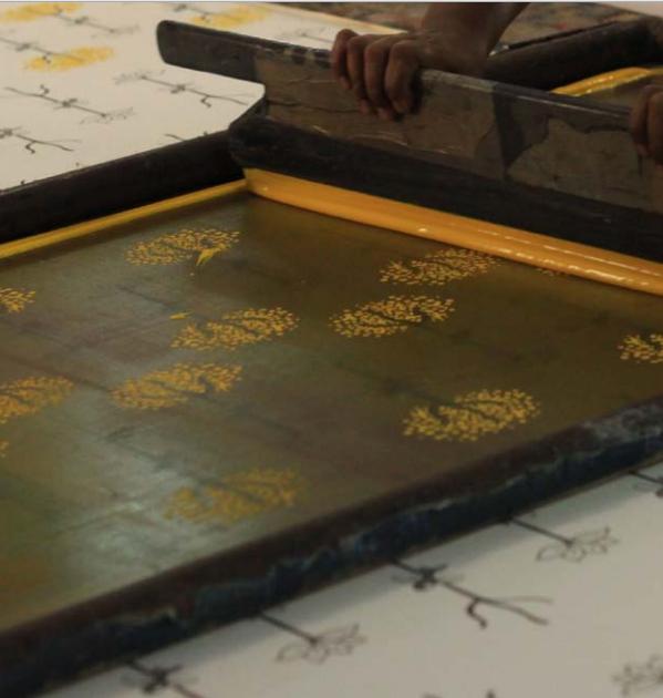 hand block print process
