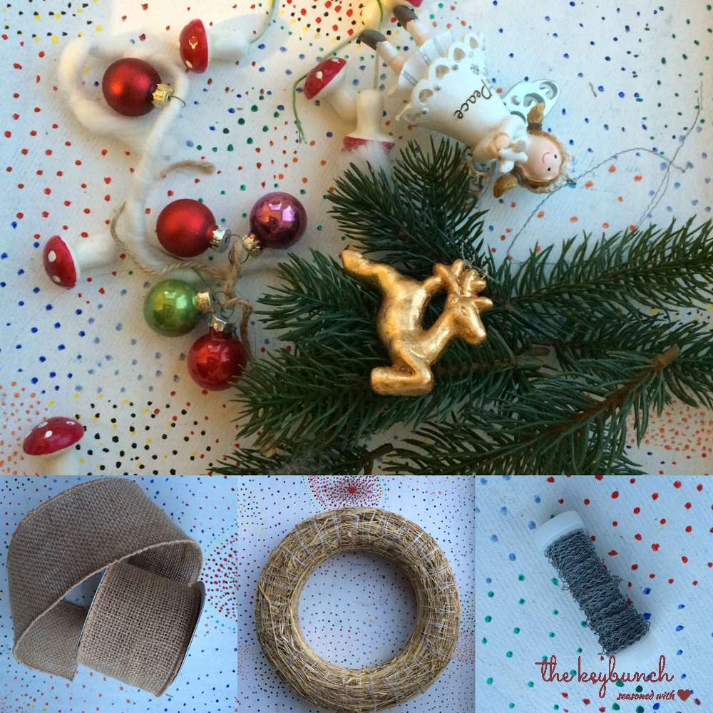 Item for making Burlap Christmas Wreath