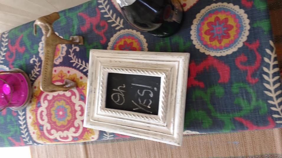 Decorative frames and chalkboards