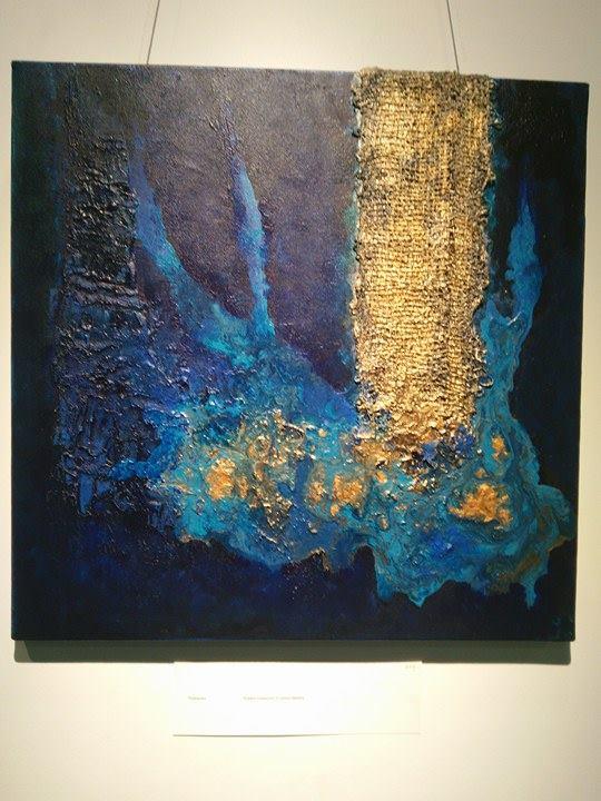 Suhasini Kirloksar, 2017, painting, artist, Intense Ocean