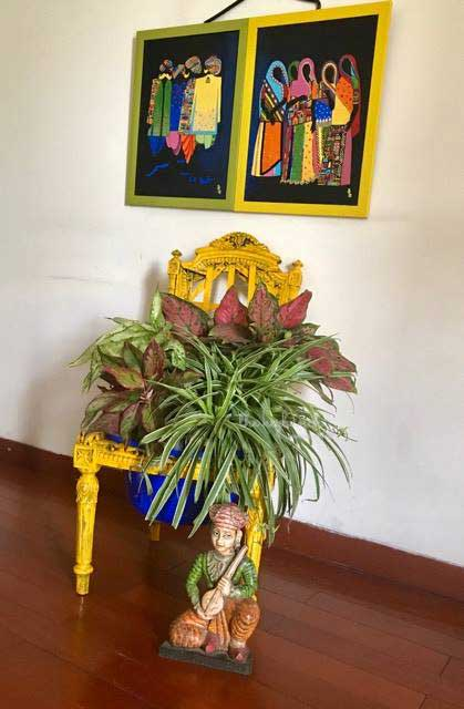 A Stunning Chair Planter DIY - Veena Singh