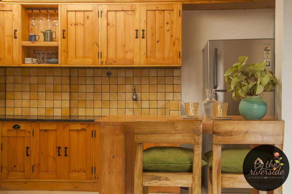 wood kitchen, rustic, by the riverside