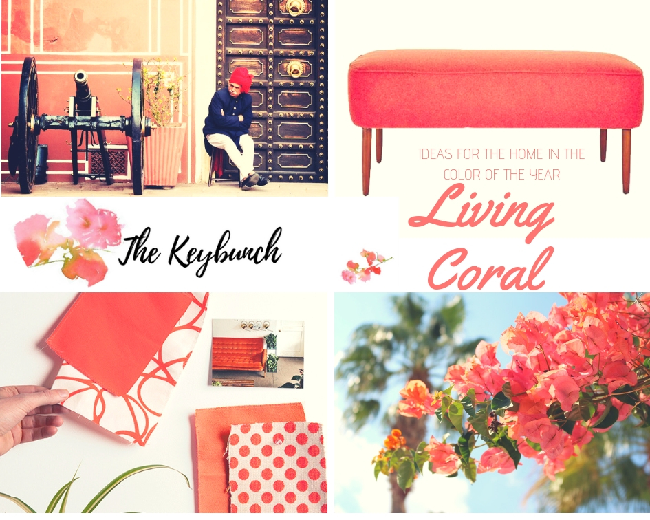 The Pantone Color of the Year 2019 in décor - Living Coral