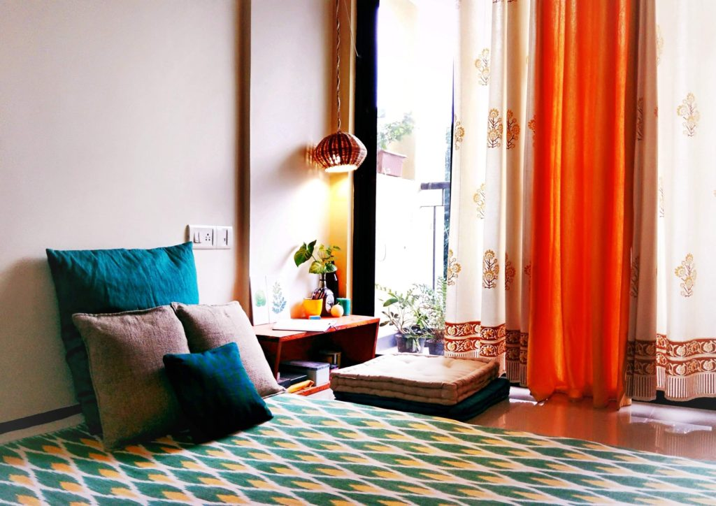 Jayati and Manali share their home tour as the science home décor - the calm and relaxing living area near the balcony
