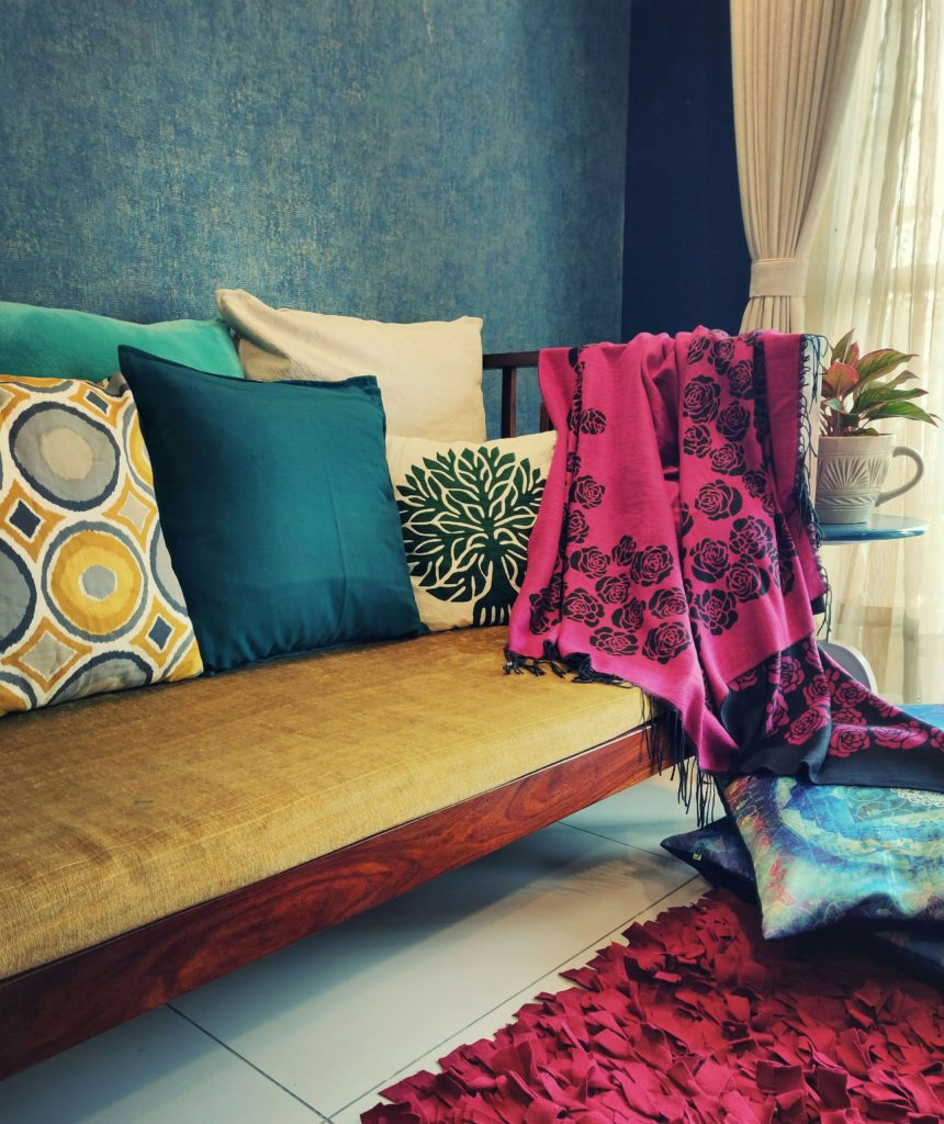 Home style Tour with Rajni in Hyderabad: red carpet with a rose petal makes the room beautiful