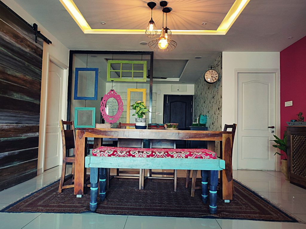Home style Tour with Rajni in Hyderabad: view from the dining area