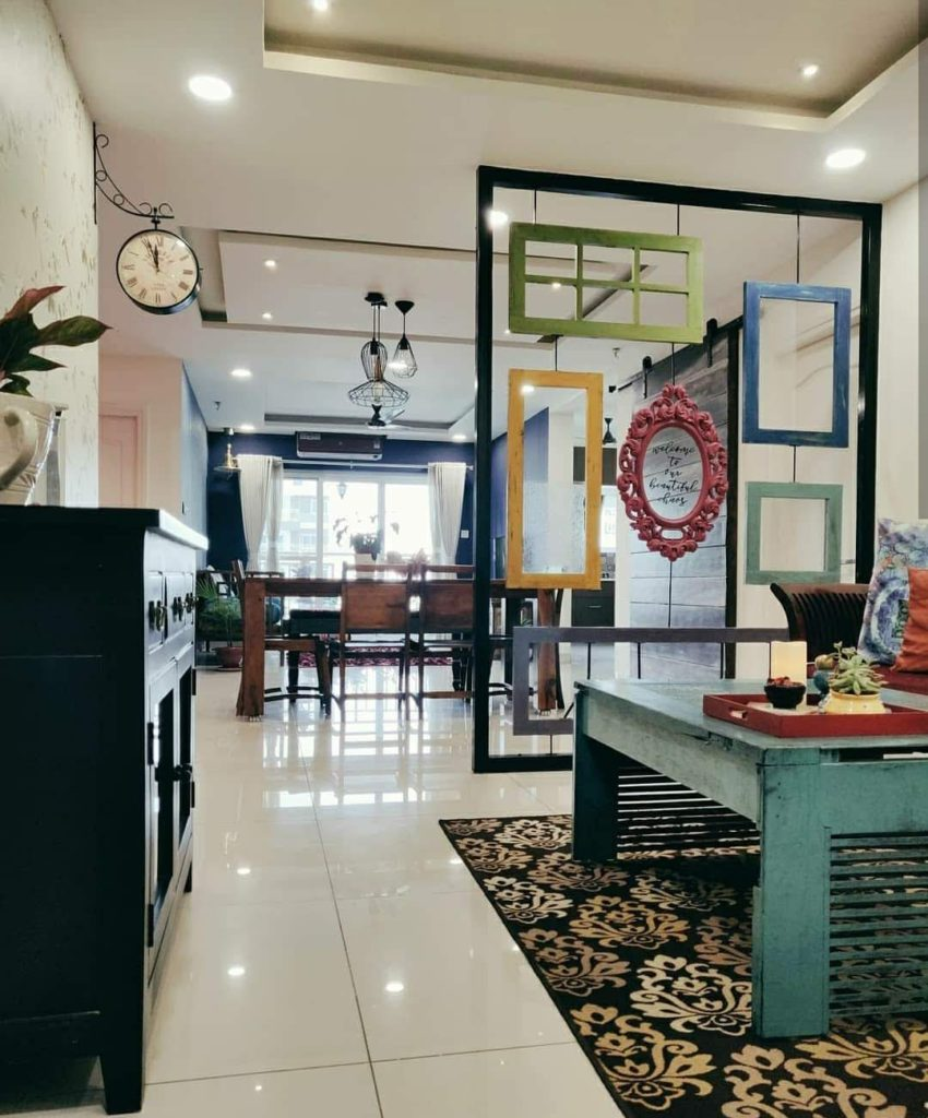 Home style Tour with Rajni in Hyderabad: the partition between formal sitting space and rest of the house to be more open