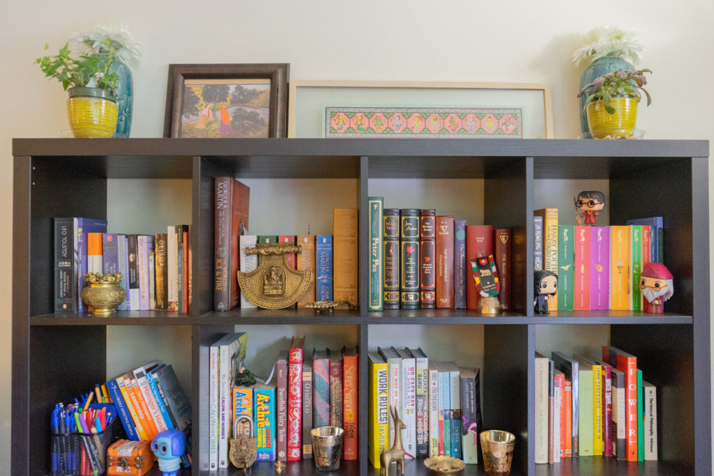 Affinity for antiques home tour of Rushika & Dipkal's - the book shelf and vintage collection
